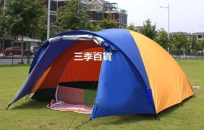 三季4-6人帳篷 一室一廳帳篷 雙層帳篷 戶外多人帳篷  多人帳篷天幕 戶外野營❖541