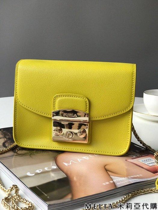 Melia 米莉亞代購 商城特價 數量有限 每日更新 FURLA 經典小方 淑女包 單肩斜背包 素色來襲 黃色