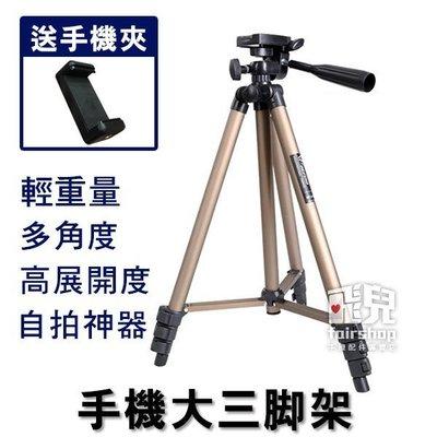 【飛兒】自拍不求人! WT-3130 手機大三角架 送自拍器 1.2m 可伸縮 通用 三腳架 伸縮腳架 198