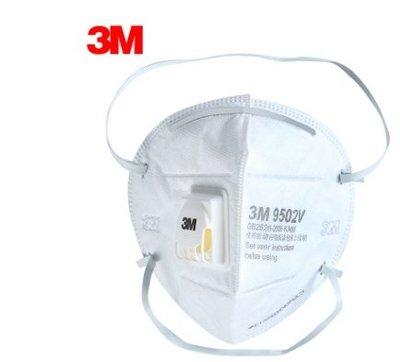 3M正版 KN95 呼氣閥口罩 3M口罩 ( 頭戴式 9502V ) 3M 口罩