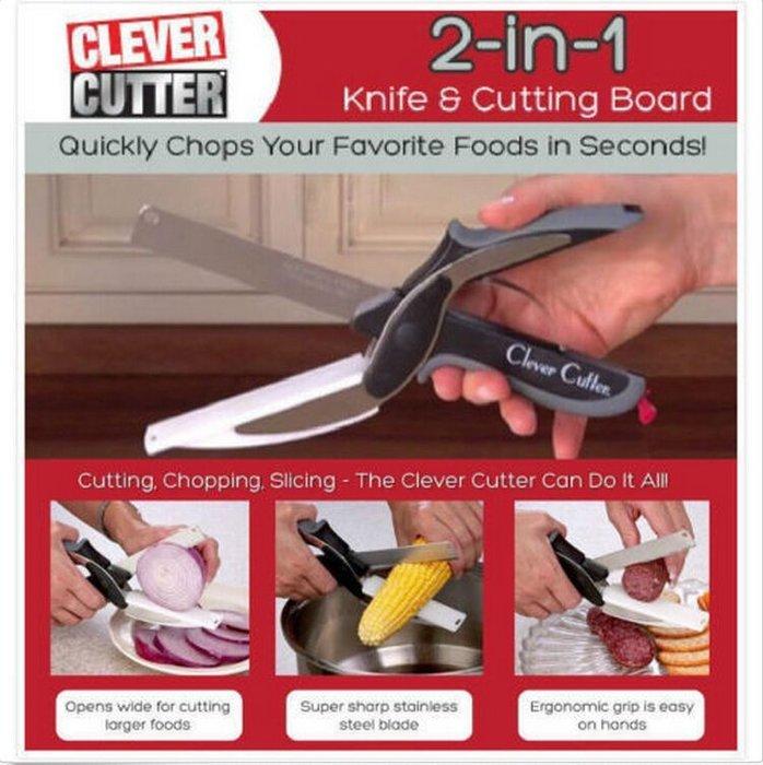 新莊 現貨 Clever cutter 多功能不銹鋼廚房剪刀 蔬菜剪刀 方便攜帶 原版卡簧版本