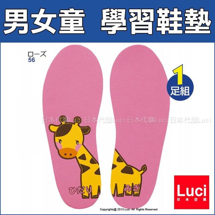 男女童 學習鞋墊 長頸鹿 大象 火箭 多款圖案印花幼稚園室內鞋墊 共7色 Luci日本代購 官方空運直送