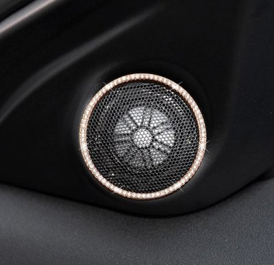 Land rove路虎 攬勝運動版高音喇叭裝飾圈攬勝極光Range Rover Evoque運動版喇叭圈鑲鑽裝飾貼