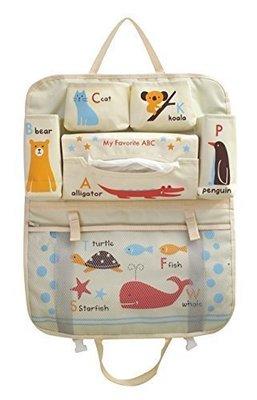 【三元】日本Decole 車用掛袋+面紙收納袋 車用多層置物袋 可愛收納袋~動物好朋友