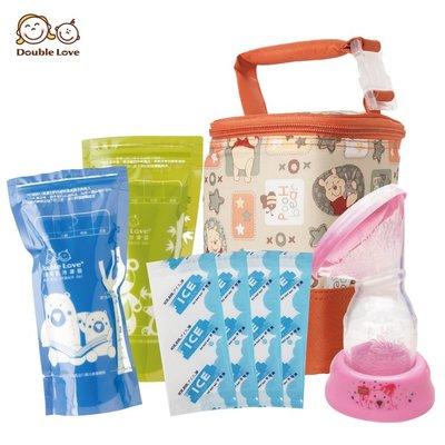 母乳冷凍袋160ml 集乳器 母乳儲存 保冷袋+母乳袋+集乳器+冰寶【A10100】