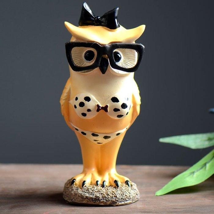 【AC 10】貓頭鷹 動物擺飾 開店 裝潢 擺設 居家裝飾 禮物 美式鄉村 擺飾 擺飾 zakka
