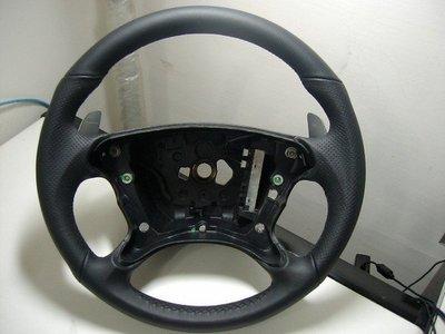 BENZ AMG CLS63 W211 W219 CLS W209 CLK R230 SL65鋁製撥桿式全皮方向盤& 霧燈SMD LED