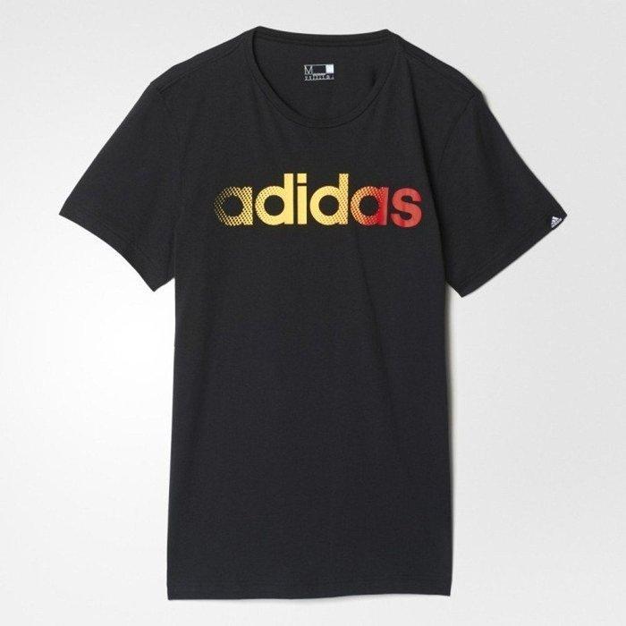 運動GO~ adidas 愛迪達 男 圓領 短袖 棉質 運動 穿搭 LOGO 短T恤 黑ClimaLite AY7197