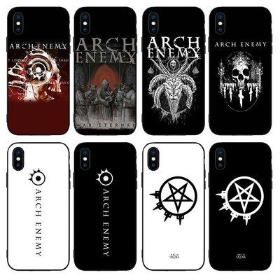 甜美3c配件~大敵Arch Enemy手機殼11PRO適用12蘋果XSMAX樂隊iphone6s軟78plus