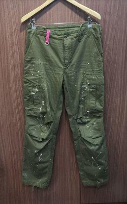 ZEKE 絕跡美品 uniform experiment UE CARGO PANTS 軍綠 破壞 潑漆 軍褲 六口袋 工作褲