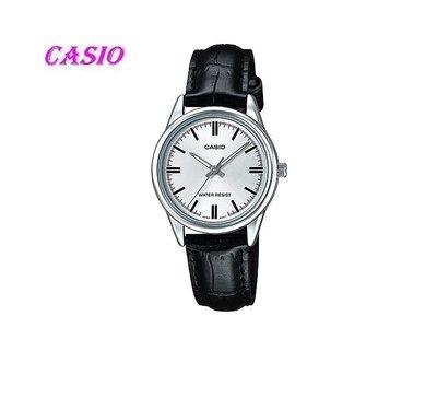 CASIO簡潔大方的三針-時分秒針設計LTP-V005L-7A  MTP-1275G -9A  女錶 石英錶 皮革錶帶
