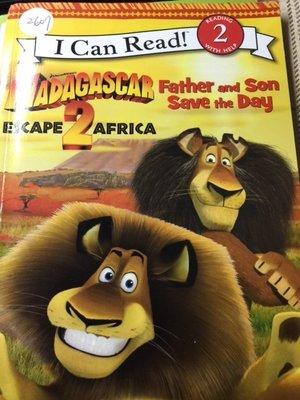 英文童書Madagascar Escape 2 Africa father and son saves the day