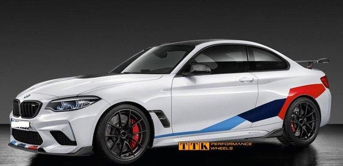 【美麗輪胎舘】新款BMW M PERFORMANCE 19吋 5孔120 前後配 平光黑