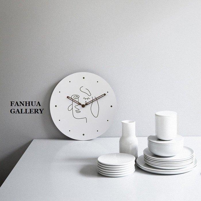 C - R - A - Z - Y - T - O - W - N 藝術臉譜掛鐘居家空間設計掛鐘時尚個性掛鐘北歐商空掛鐘