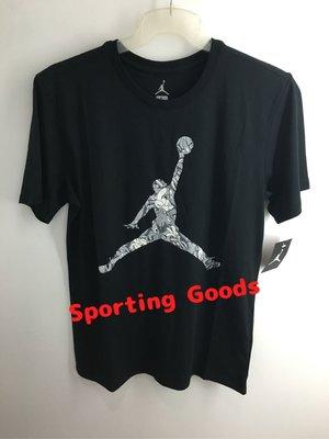 S.G AIR JORDAN JUMPMAN HANDS DOWN 男裝 黑色 運動 T恤 短T 801606-011
