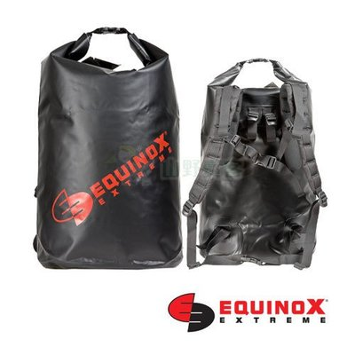 【山野賣客】Equinox 70公升 (後背式) 黑色 100% 防水袋 泛舟 浮潛 溯溪 衝浪 釣魚 46064