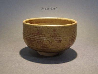 ☆清沁苑☆日本茶道具~在銘 信樂燒 手作輪線茶碗~d096