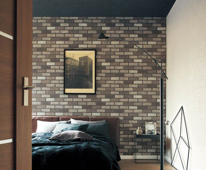 【Uluru】日本進口壁紙 3D立體感 磚塊壁紙 灰磚 深磚壁紙 Loft工業風 倉庫風格壁紙 日本製