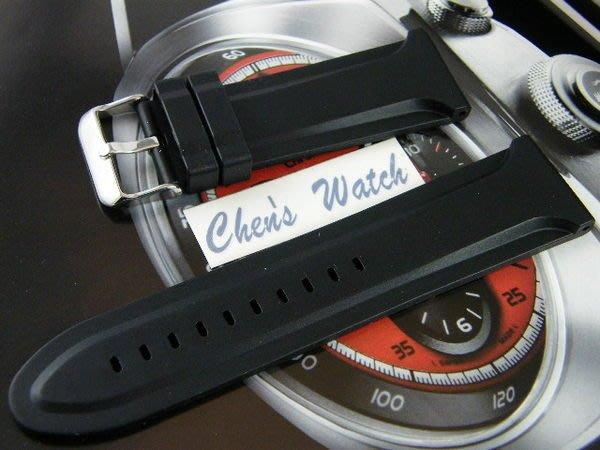 錶帶屋 26mm 28mm頂級質感矽膠錶帶有效替代PANERAI各式同規格錶帶 現貨商品