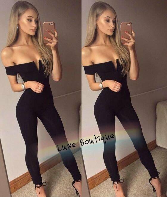 歐美爆款v胸繃帶連身褲 派對 夜店 顯瘦 JUMPSUIT luxe boutique D1715117