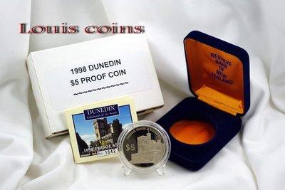 【Louis Coins】F029‧New Zealand‧1998紐西蘭‧Dunedin旦尼丁精鑄PROOF銀幣