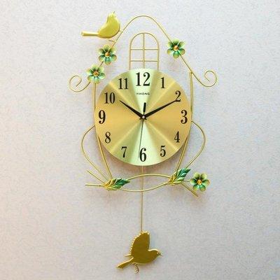 免運~~鐘表掛鐘客廳靜音個性家用小鳥時鐘創意現代裝飾大氣臥室時尚掛表