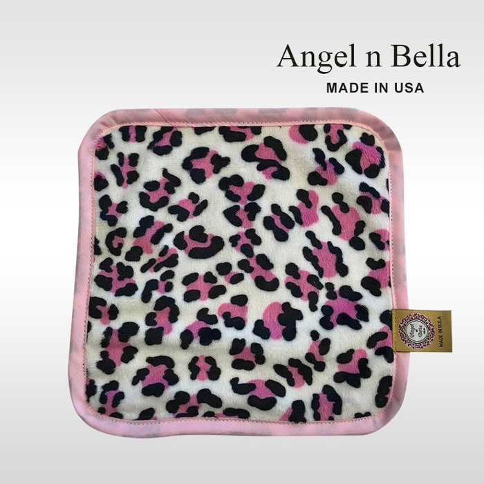 ☆°Angel n Bella.╯☆°【美國製】頂級時尚動物紋手帕-經典彩豹 (糖果豆款)