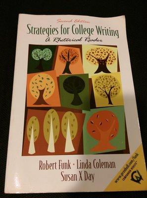 大學英文系二手書-Strategies for College Writing: A Rhetorical Reader