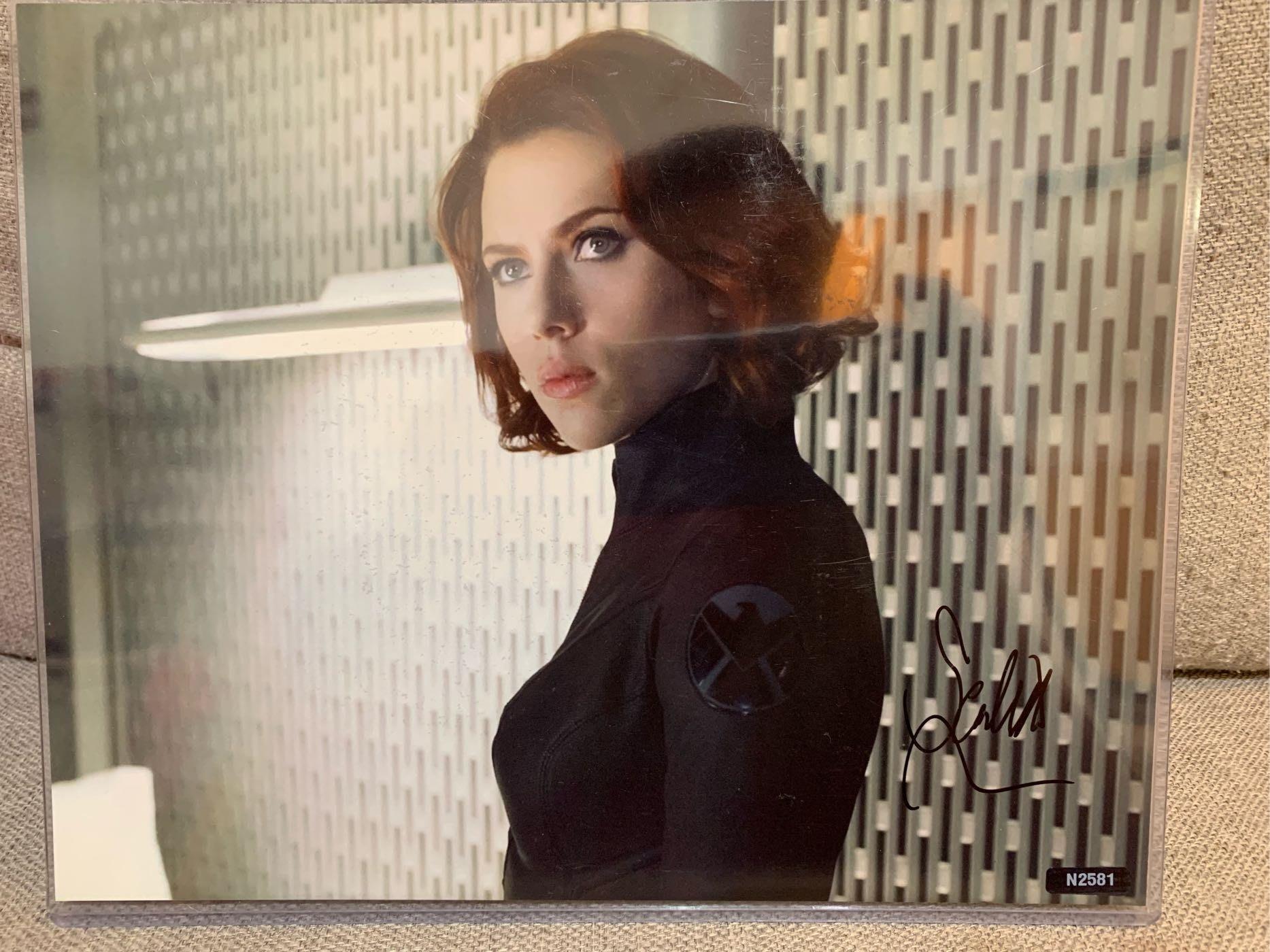 漫威 MARVEL 復仇者聯盟 終局之戰 黑寡婦 史嘉蕾·喬韓森 Scarlett Johansson 親筆簽名照 8x10  iron man