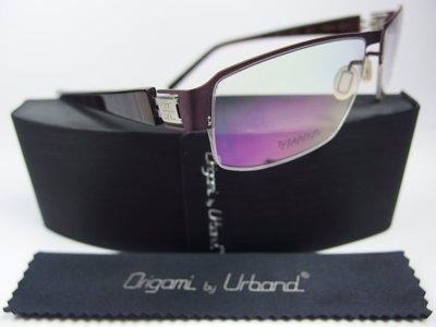 【信義計劃】全新真品 Urband 日本手工眼鏡 鈦金屬半框 專利彈簧膠腳 超越  Infinity Lindberg