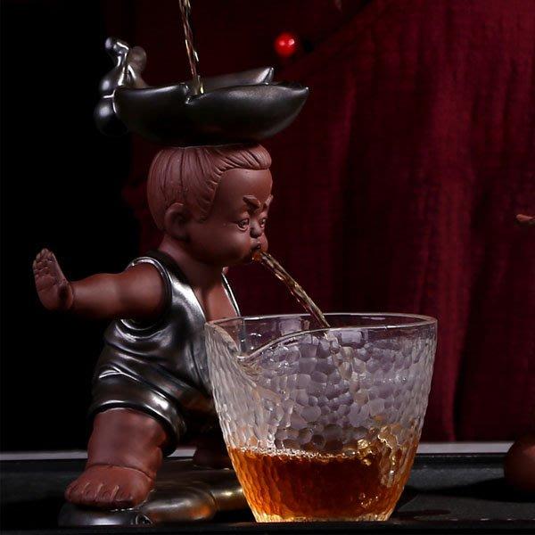 5Cgo【茗道】含稅會員有優惠 547817929890 懶人茶具配件茶過濾茶壺茶杯茶海茶盤茶漏紫砂茶寵金剛葫蘆娃噴水