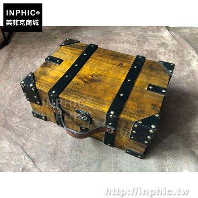 INPHIC-手工收納裝飾手提箱雜物仿古復古實木陳列道具做舊_bARX