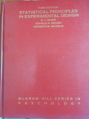 (20)英文原版精裝《Statistical principles in experimental design》泛黃