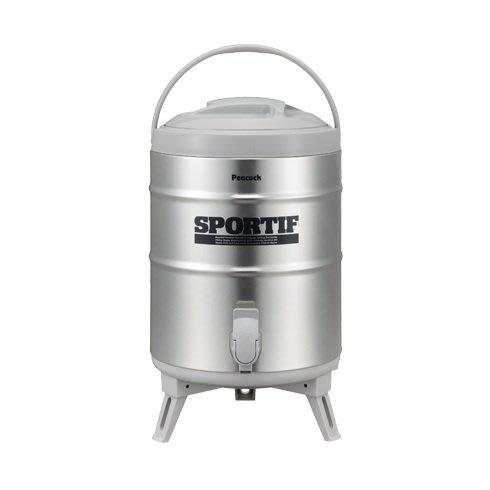 日本【Peacock】孔雀魔法瓶 INS-100 不鏽鋼茶桶9.5L 保溫保冷桶
