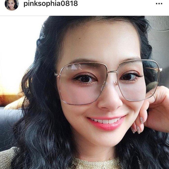 安安精品保證正品~明星同款GUCCI 墨鏡 時尚大框 太陽眼鏡 GG0394S 004粉紅