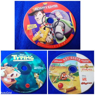 【彩虹小館】3片CD-ROM~DISNEYS ACTIVITY CHENTER+hot shots+typing/z25w24