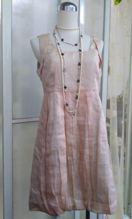 專櫃 MOMA 絲麻花苞洋裝