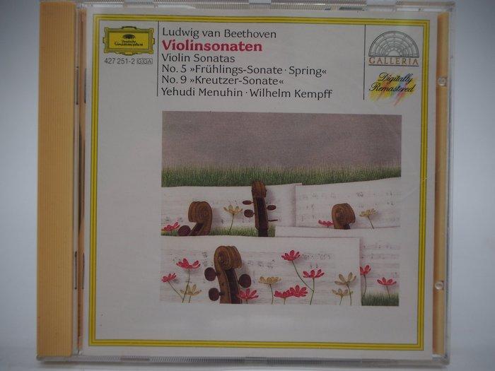 【月界】Beethoven:Violin Sonatas 5 & 9_Menuhin/Kempff_古典樂〖專輯〗CIR