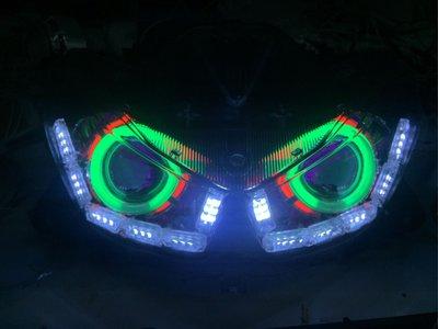 Force 淚眼導光條 流水方向燈 魚眼燈具組 含線組 hid 光圈 整套9000