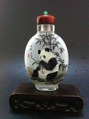 國寶熊貓圖1內畫鼻煙壺中國特色手工藝品中國風外事商務小禮品手繪送長輩 壺說80