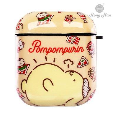 正版授權 Sanrio 三麗鷗 AirPods / AirPods2 防塵耐磨保護套 布丁狗 胖胖貪吃