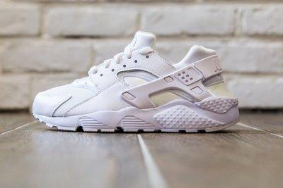 【超級特價】 Nike Air Huarache (GS) 全白 白武士 網布 女鞋 654275-110