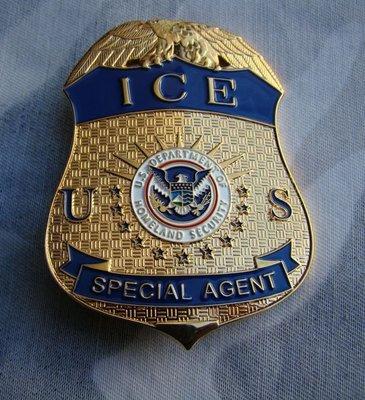 美國國土安全部 移民與海關金屬徽章 純銅