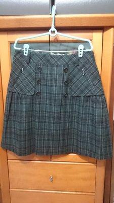 專櫃 Five Pence 五個銅貨格紋裙 (尺寸40)