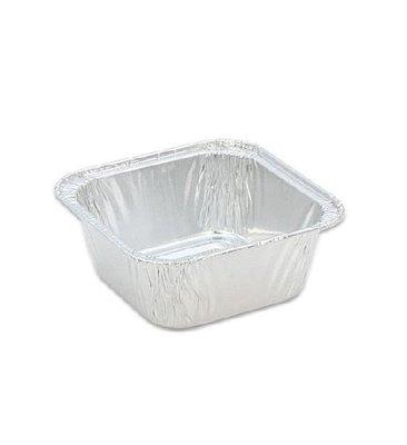 正方形鋁箔模型15入(焗烤盤.耐高溫拋棄式模具.烘焙材料器具.蛋糕模型.果凍杯.蒸蛋模型.巧克力慕斯材料)新食倉庫
