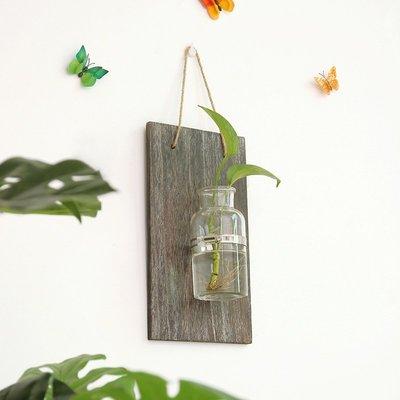 【阿忿貓的北歐咖啡館】美式鄉村 木質復古模擬植物水培器家居裝飾客廳臥室牆壁裝飾品