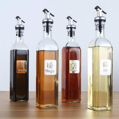Color_me【Z174】方形歐式玻璃油瓶(500ml) 油瓶 貼牌 油壺 加厚 玻璃 控油 單手開關 防漏油罐 廚房 新北市