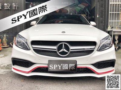 SPY國際 Benz W205 C200 C250 C300 63 前保桿總成 PP材質 另有 側裙 後保桿 後下巴 四出尾飾管 現貨供應