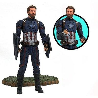 金錢貓雜貨~全新 Marvel Select 復仇者聯盟 無限之戰 美國隊長 Captain America