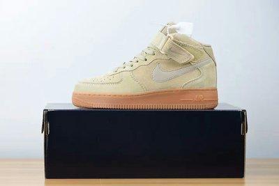 Nike Air Force 1 Mid 男女空軍中筒沙黃生膠底板鞋AA1117-200 尺碼36-45